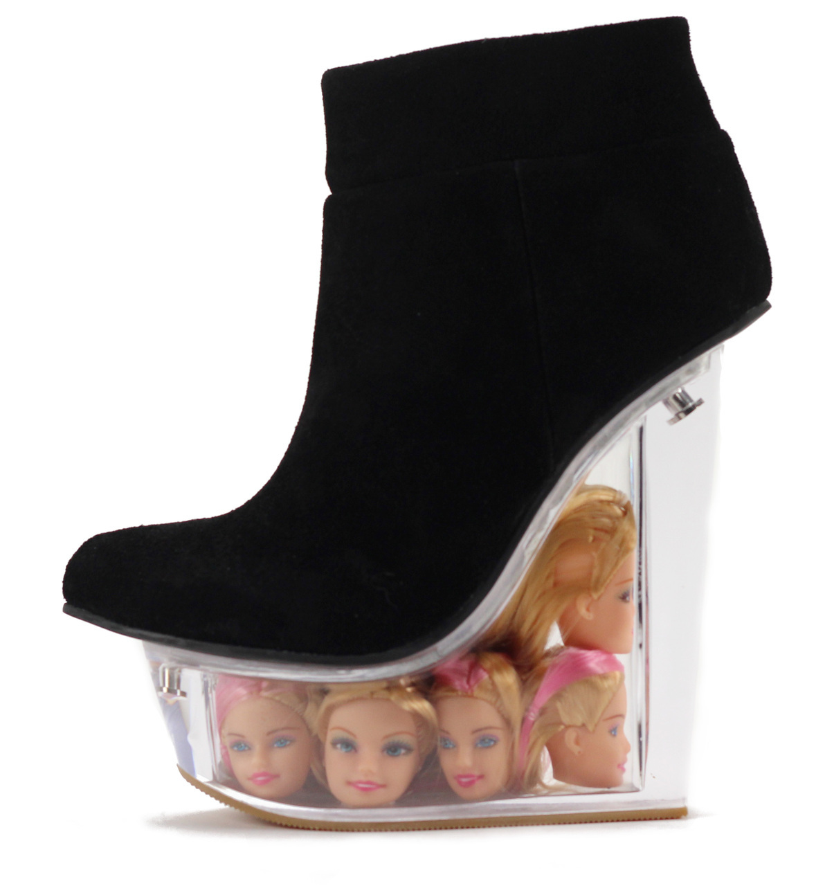 barbie shoe Would You Wear These Boots With Floating Barbie Heads In The Heel?