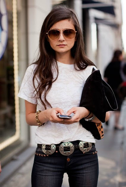 belted jeans stockholm streetstyle