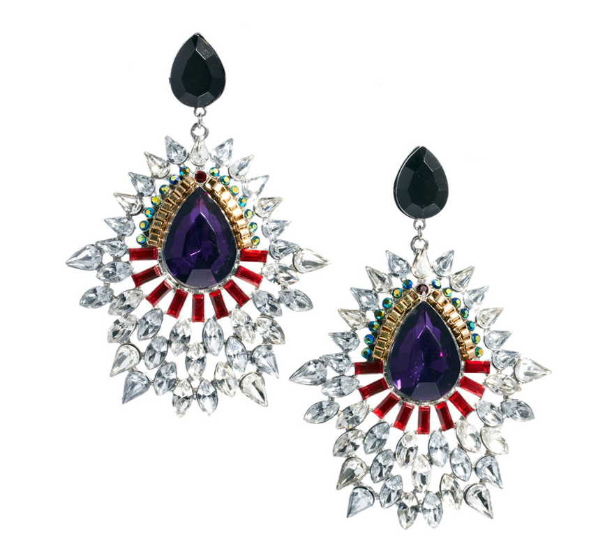 cocktail earrings1 6 Pairs Of Opulent Statement Earrings To Glitz Up Any Outfit This Season