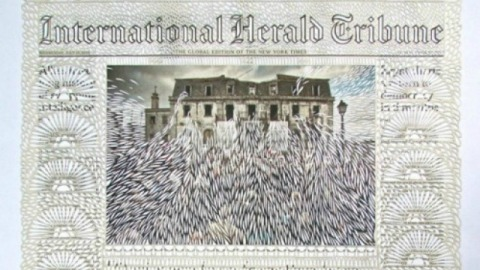 Stuff We Love: Newspaper Pages Cut Like Embroidered Lace by Myriam Dion   StyleCaster