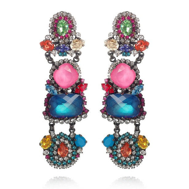 erickson beamon earrings 6 Pairs Of Opulent Statement Earrings To Glitz Up Any Outfit This Season