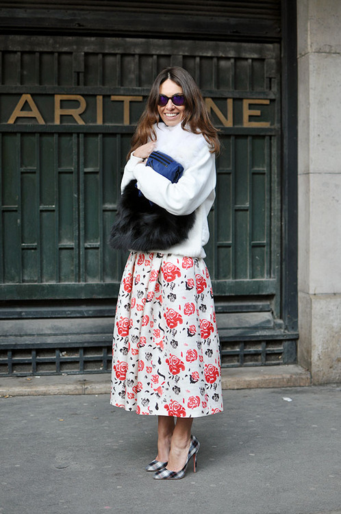 floral full skirt people with styles