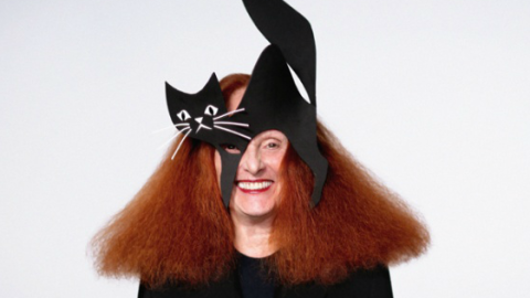 See Designer Halloween Masks Modeled by Grace Coddington, Man Repeller, and More | StyleCaster