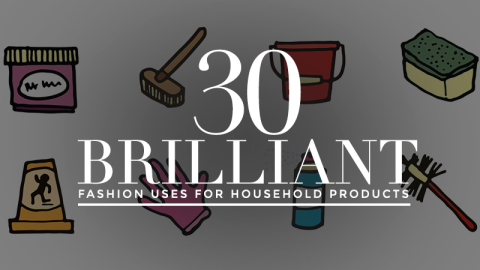 30 Fashion Uses for Household Items   StyleCaster