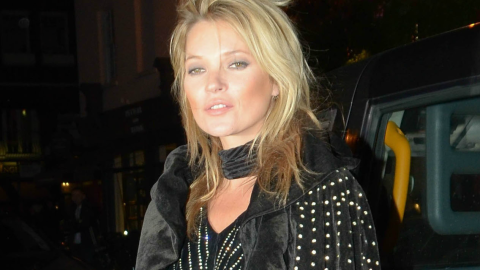 Fact: Nobody Can Pull Off A Bedazzled Velvet Cape Quite Like Kate Moss | StyleCaster