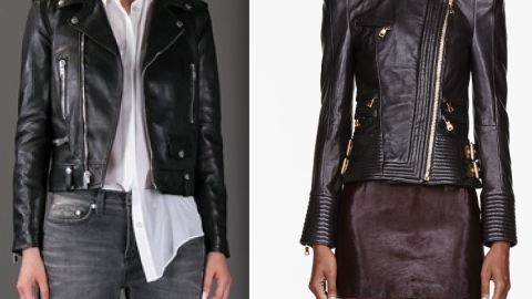 Would You Rather: Have a Designer Leather Jacket By Saint Laurent or Balmain? | StyleCaster