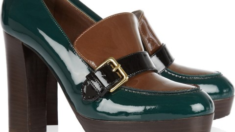 Want: A Dreamy Pair of Patent Leather Loafer Pumps by Marni | StyleCaster