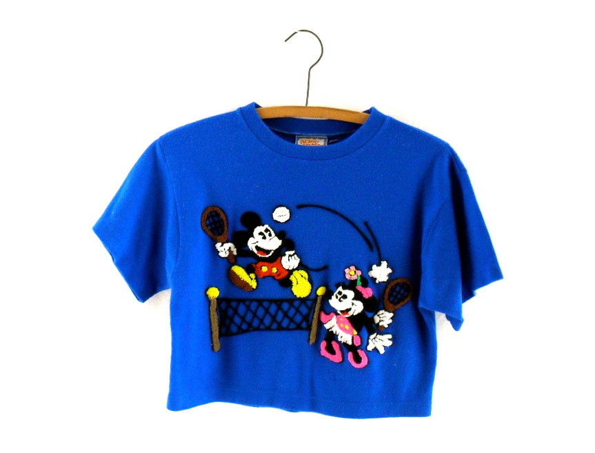mickey mouse crop top How Fashion Stars Wear Mickey Mouse Tops