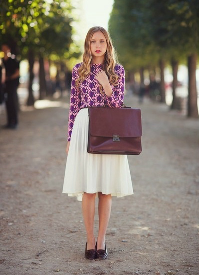 one print one solid skirt stockholm streetstyle