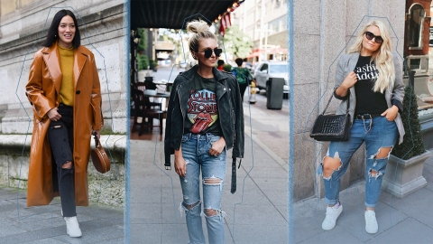 There Is Endless Street Style Inspiration for How to Make Ripped Jeans Look Chic AF | StyleCaster