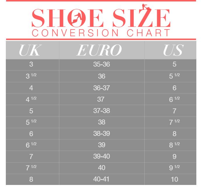 Shoe Size Conversion Chart Stylecaster