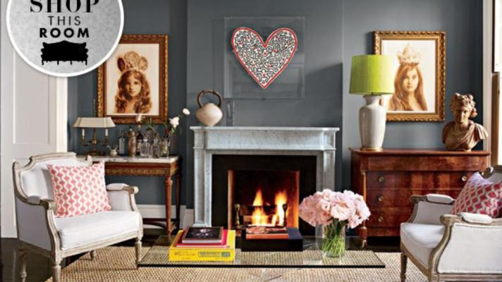 Shop This Room: Brooke Shields' Eclectic NYC Sitting Room