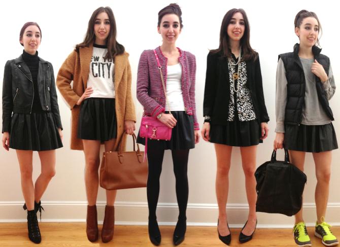 5 Ways to Wear a Skater Skirt copy