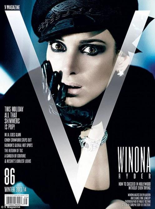 Winona Ryder V magazine cover