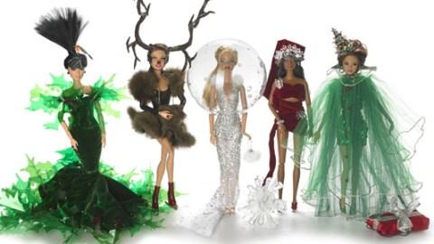 British Milliner Stephen Jones Has Designed 5 High-Fashion Holiday Barbie Dolls   StyleCaster