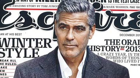 Whoa! George Clooney Disses Crowe, DiCaprio and Kutcher in New Esquire Interview   StyleCaster