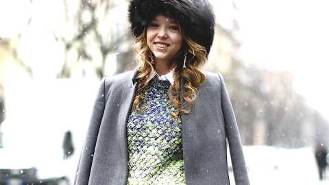 Winter Outfit We Love: This Look Makes Us Really, Really Want a Giant Fur Hat | StyleCaster