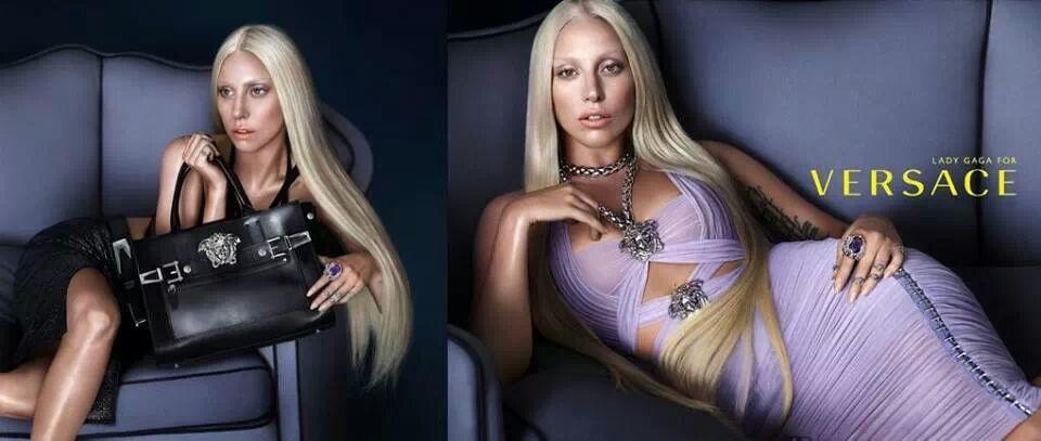 lady gaga versace ad Lady Gaga Looks Just Like Donatella in New Versace Ads