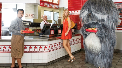 See Furry Fashion Monsters Doing Mundane Things In Rad Harper's Bazaar Shoot | StyleCaster