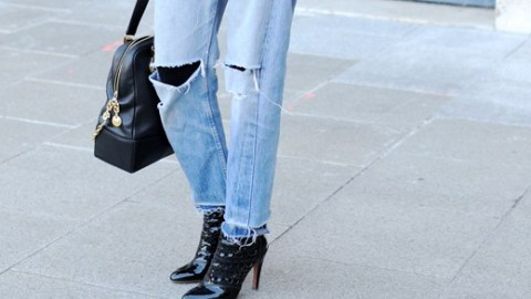 5 Beyond-Cool Ways to Wear Tights Under Ripped Jeans This Winter | StyleCaster