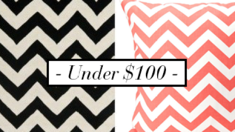 Our Favorite Chevron Home Decor Accessories Under $100 | StyleCaster