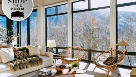 Shop This Room: Aerin Lauder's Cozy Aspen Living Room | StyleCaster