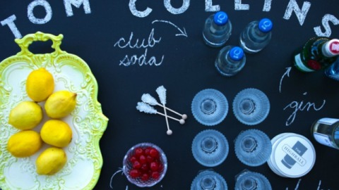 DIY a Bar Area For Your Next Soiree Using a Chalkboard | StyleCaster