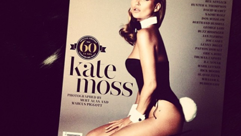 First Look: Kate Moss Rocks Iconic Bunny Ears and Tail For Playboy   StyleCaster
