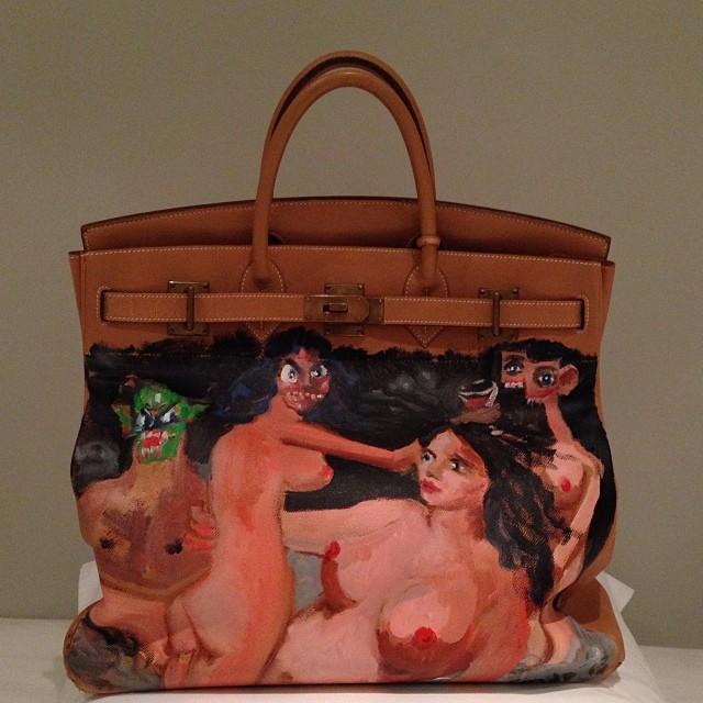 kim kardashian birkin bag Kanyes Christmas Gift To Kim: An Hermès Birkin Bag Covered in Nude Paintings