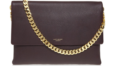 Want: A Super-Chic Leather Bag with a Gold Chain Strap | StyleCaster
