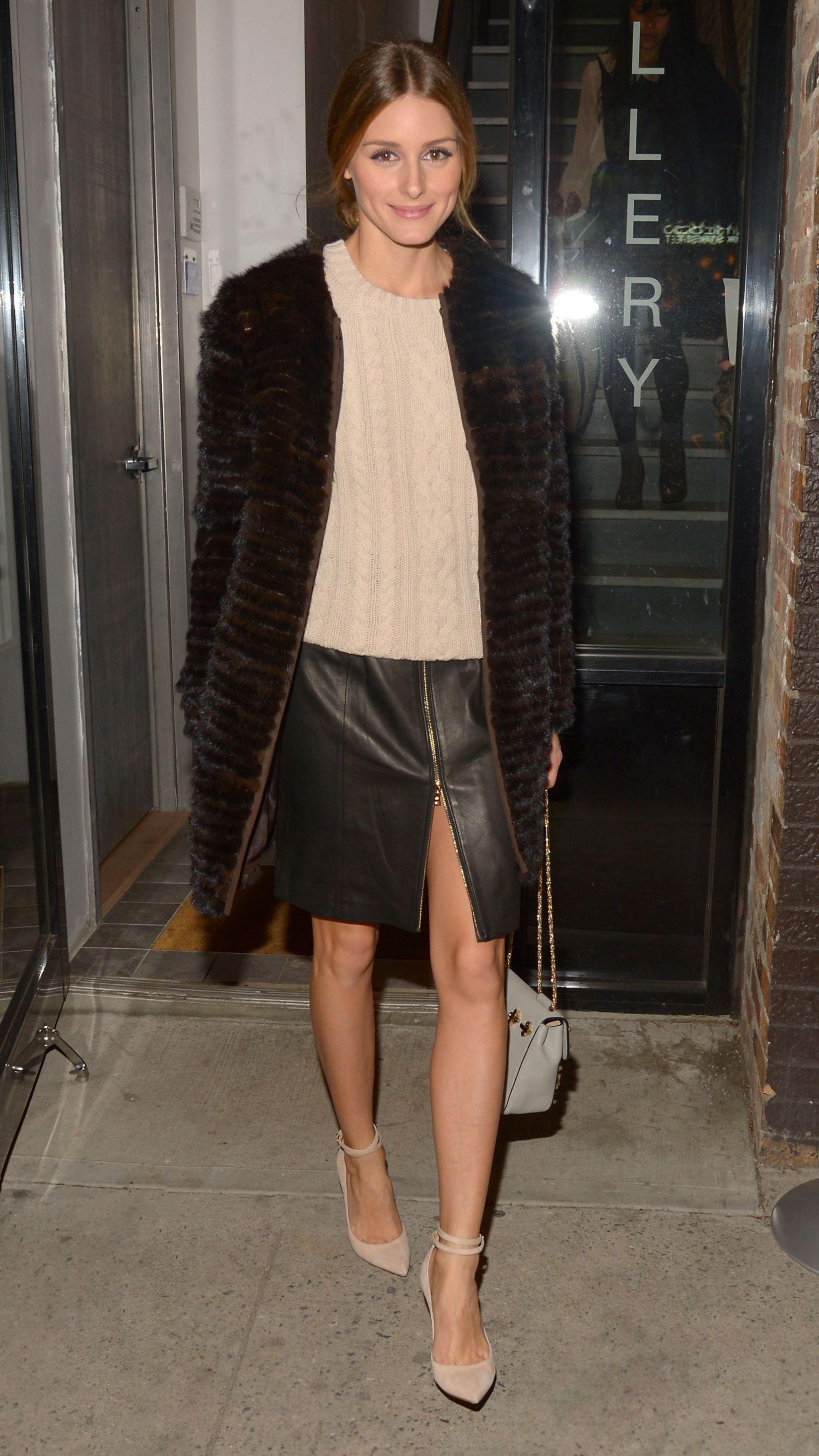 Olivia Palermo at the Old Navy Holiday Bazaar in NYC