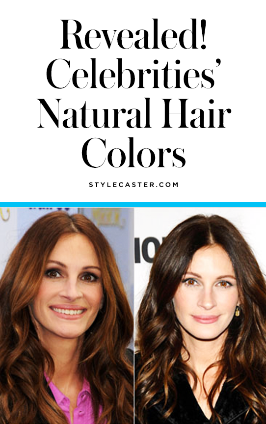 Revealed: celebrities' natural hair colors | @stylecaster