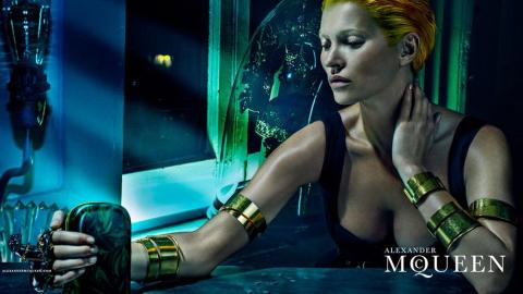Kate Moss' Haunting McQueen Campaign | StyleCaster