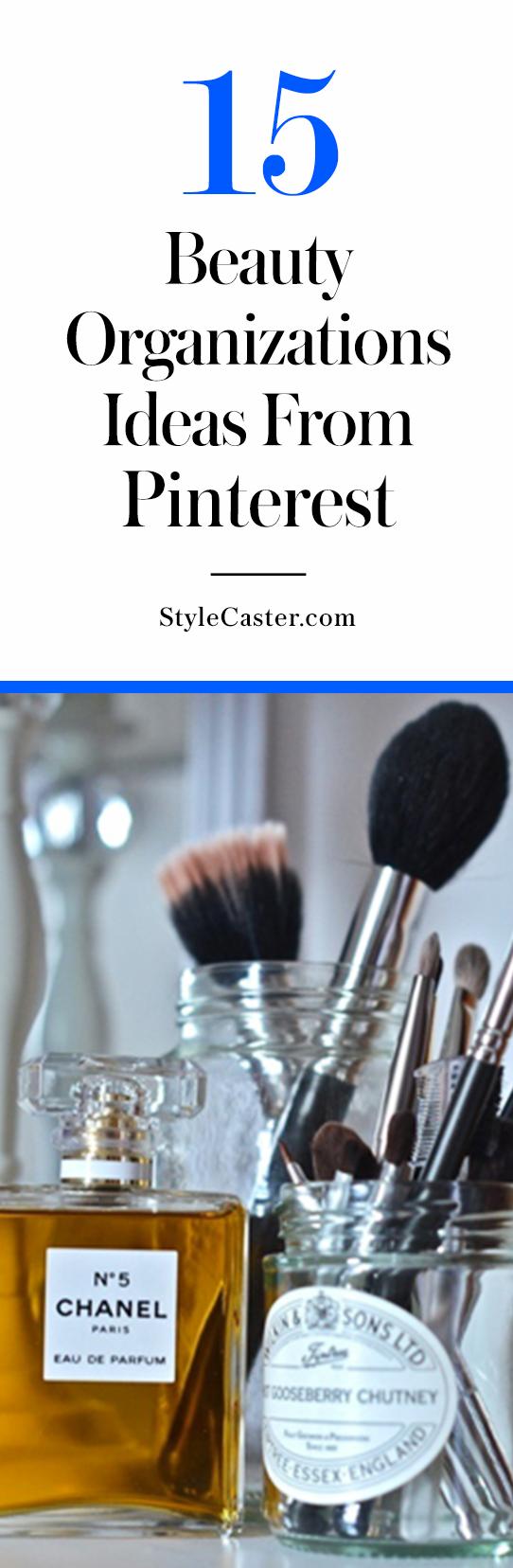 15 beauty organization ideas from Pinterest   @stylecaster