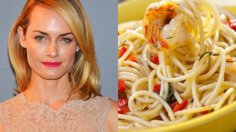 Amber Valletta's Favorite Recipe: Shrimp With Spaghetti   StyleCaster