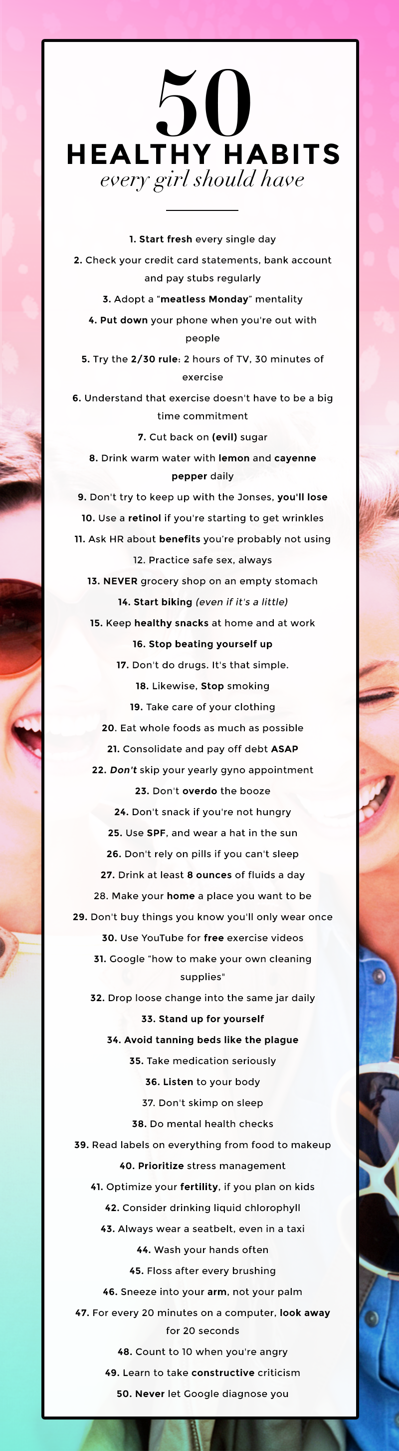 healthy habits women