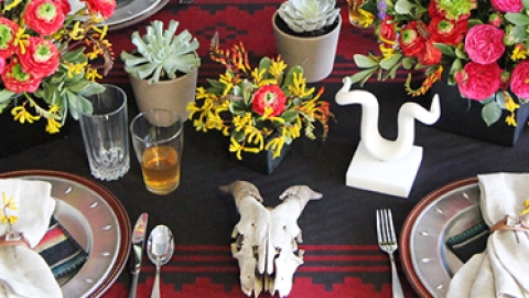 Tablescape DIY: A Southwest-Inspired Winter Dinner Party   StyleCaster