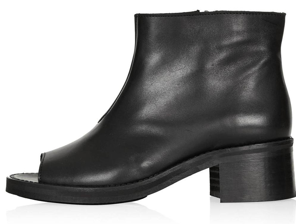 Open-Toe Bootie With a Walkable Heel