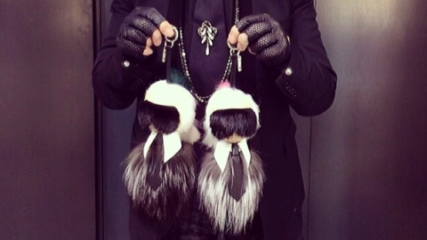 Karl Lagerfeld-Shaped Fur Buggies Exist | StyleCaster