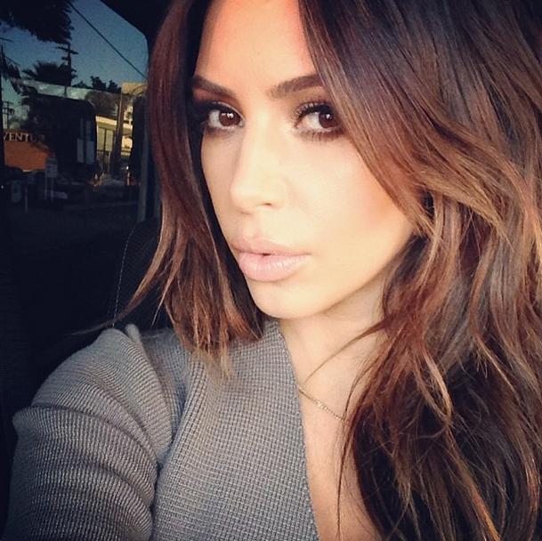 kim k brownhair Kim Kardashian Finally Got That Vogue Cover: Report