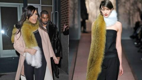 Kim K. Wears $4,000 Marni Fur Scarf | StyleCaster