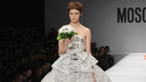 You Must See This Moschino Wedding Gown | StyleCaster