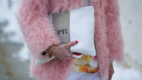 Street Style: Pink Coats are Everywhere  | StyleCaster