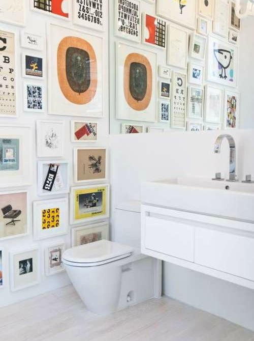 bathroom gallery wall 15 Things Every Fashion Girl Has In Her Home