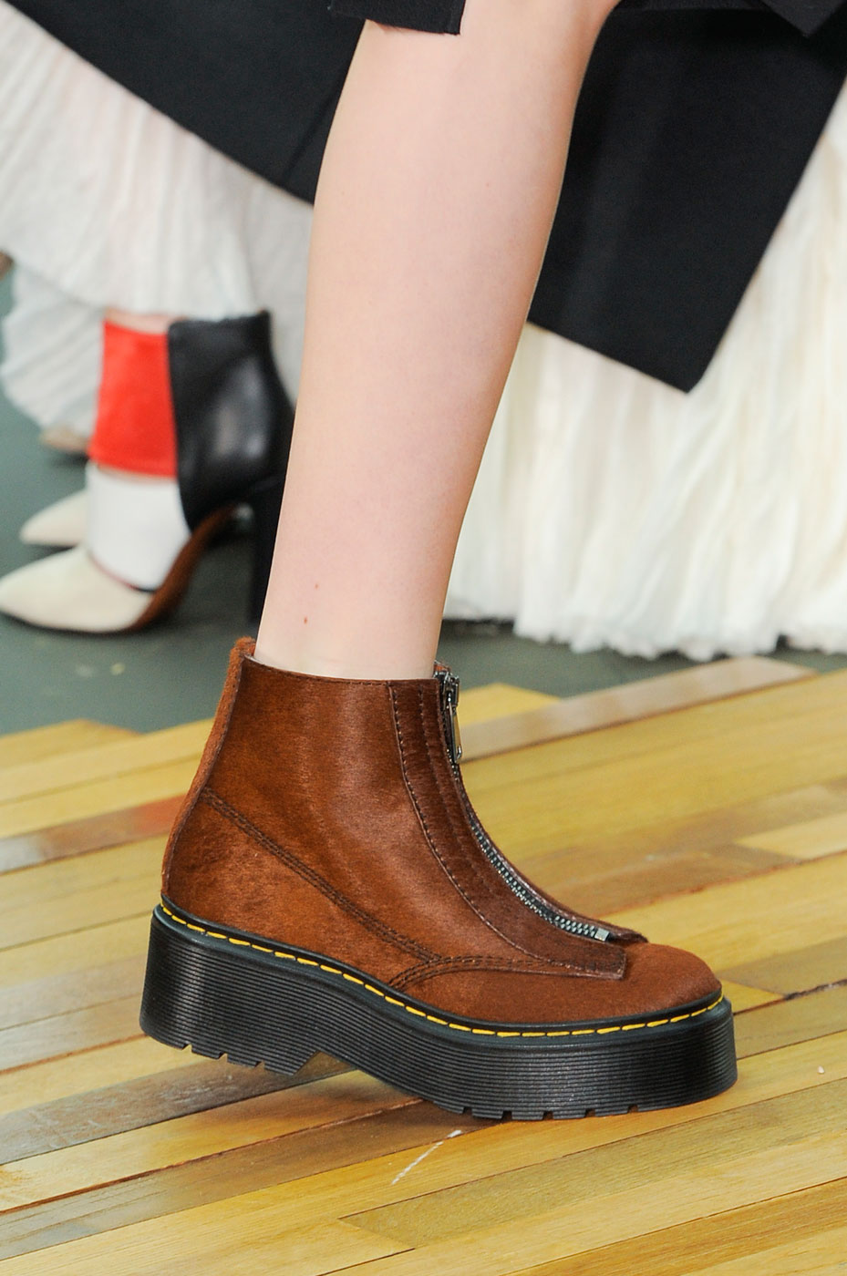 Céline Fall 2014 boots combat doc martens zipper