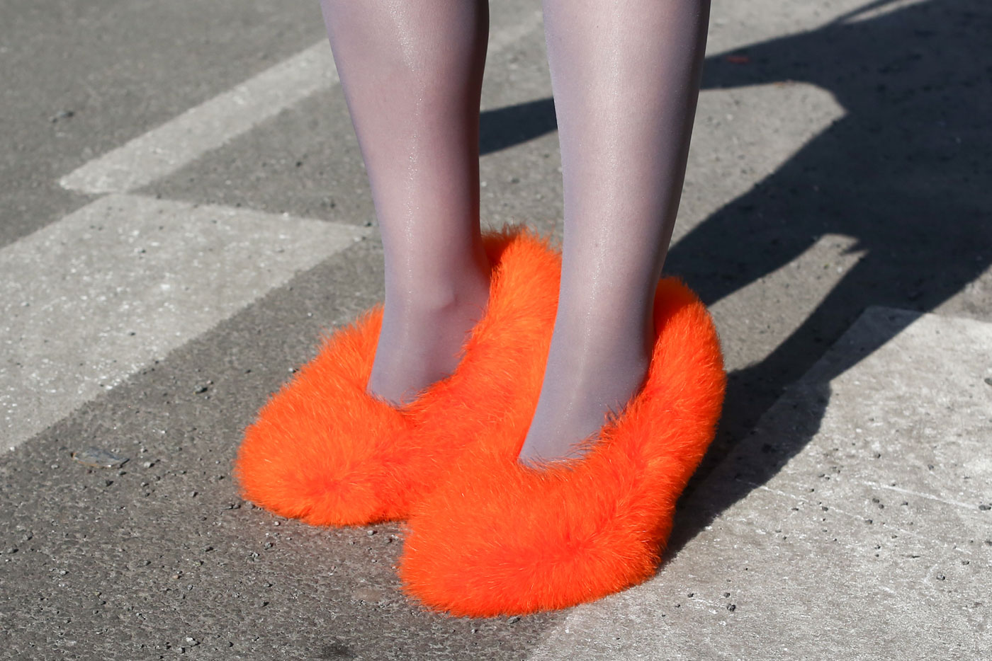 fur shoes 15 Signs Youll Never End Up on a Street Style Blog