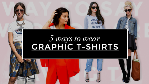 5 Ways To Wear Graphic T-Shirts | StyleCaster
