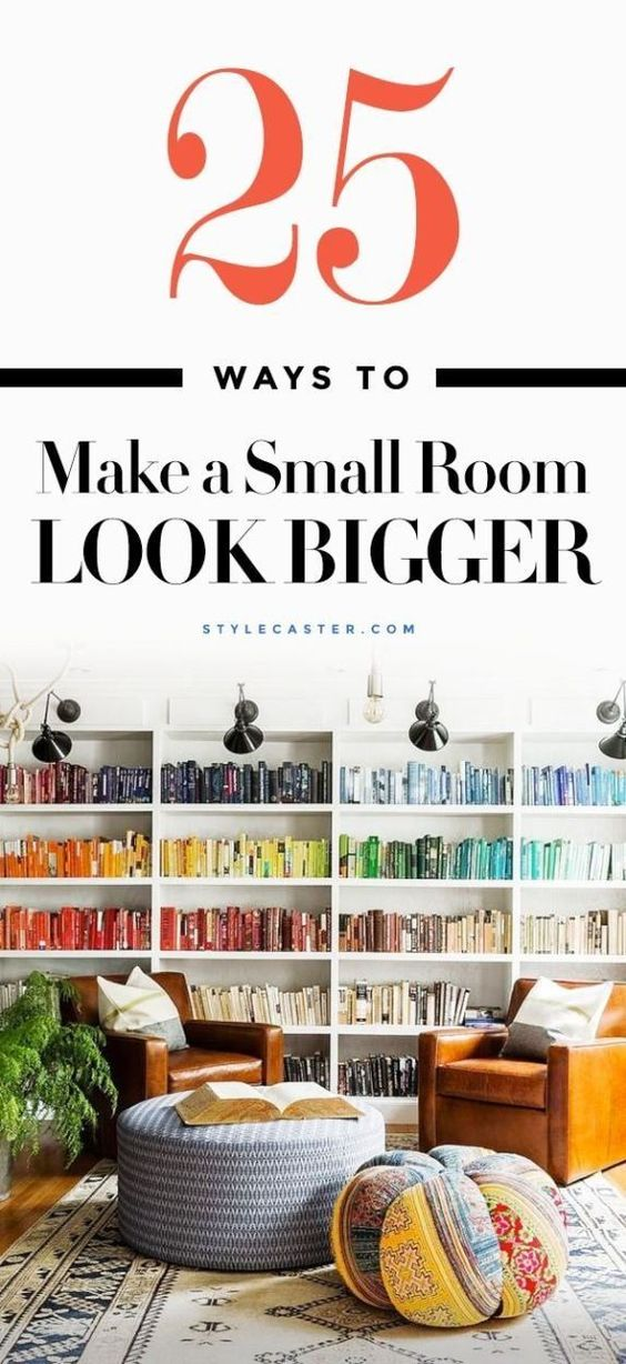 Genius decor ideas to make a small room look bigger—25 interior design tips that really work! @stylecaster