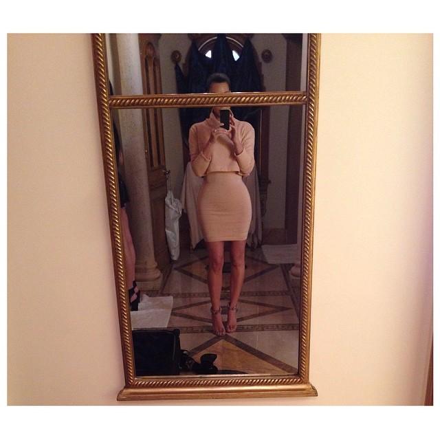 Is Kim Kardashian Photoshopping Her Own Selfies?