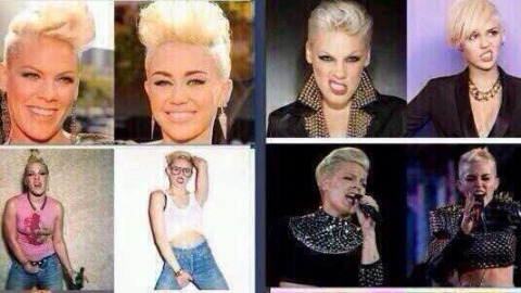 Is Miley Copying Pink?  | StyleCaster